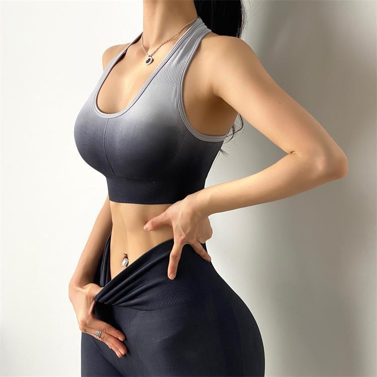 Gradient Gather Shaping Sports Yoga Bra
