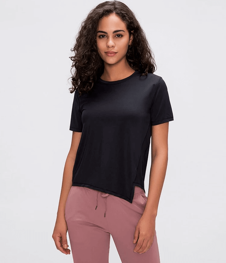 Round Neck Short Sleeve Top