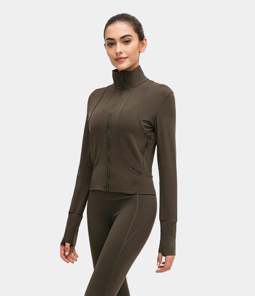 Zipper Long Sleeve Sports Top
