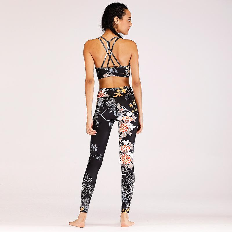 Sexy Exposed Print Flower Quick-drying Suit