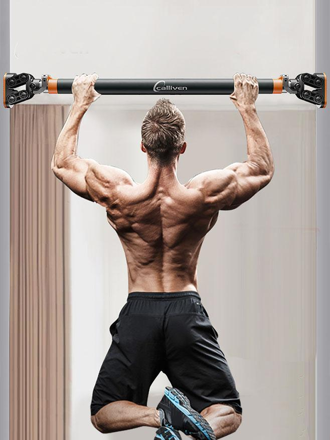 Calliven: Doorway Pull Up Bar For Upper body Workout - Steel Locking Mechanism With NO CREWS