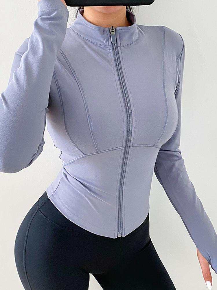 Nude Solid Color Professional Training Sports Jacket