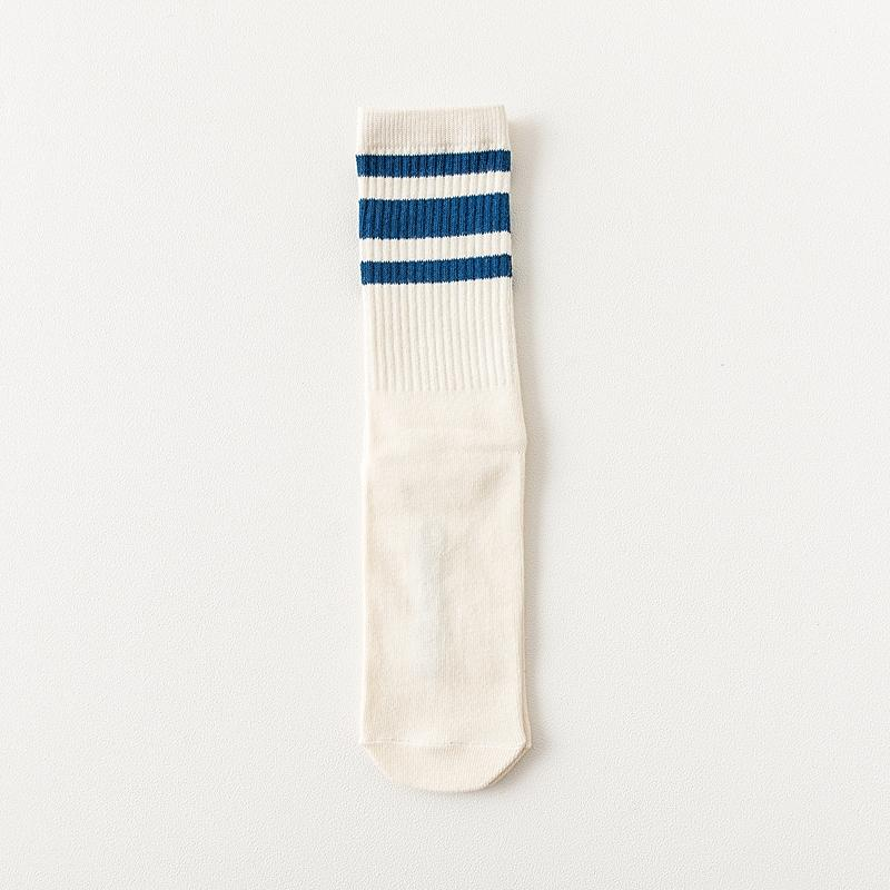 Elastic Cotton College Style Socks