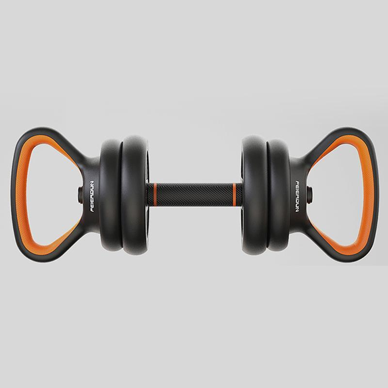 FEIERDUN:Environmental Protection Dumbbell Men Detachable Plastic Hand Bell Barbell Set Home Sports Fitness Equipment