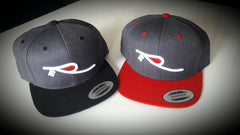 "3-D ""R"" White/Red Logo Snapback Hats Caps 2-TONES"