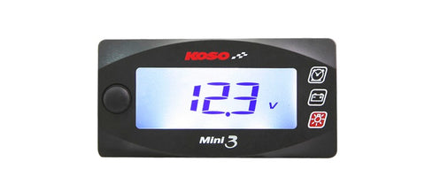Koso Mini 3 Clock and Volt Meter