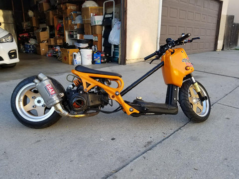 "RUCKSTERS CUSTOMS ""TOP SECRET"" 205CC GY6 SWAPPED HONDA RUCKUS"