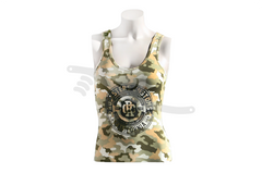 Crest Ladies Tank Camo/Black