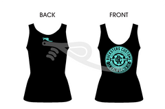 Crest Ladies Tank Black/Teal