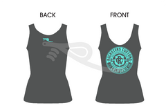 Crest Ladies Tank Gray/Teal