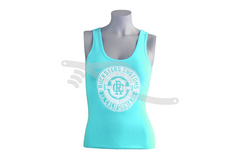 Crest Ladies Tank Teal/White