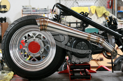 "Gojin GY6 Exhaust System 7"" & 8"" Fatty"