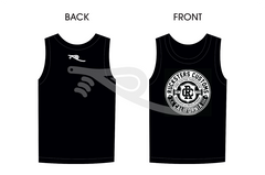 Crest Men's Tank Top Black/White