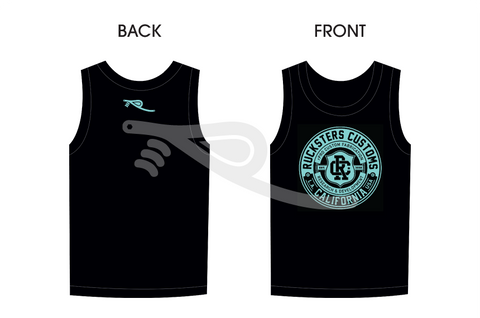 Crest Men's Tank Top Black/Teal