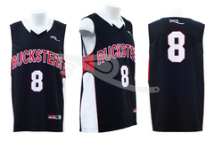 Rucksters Basketball Jersey Black/Red