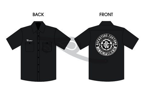 rPRO Crest Patch Work Shirt Black