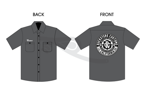 rPRO Crest Patch Work Shirt Charcoal