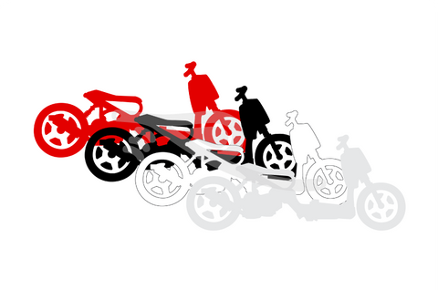 Ruckus Silhouette Decal Mini Colors