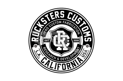 Rucksters Customs™ Crest Sticker 3.5""