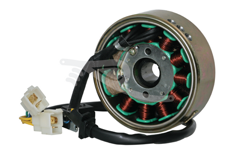 GY6 11-Pole Stator, Flywheel & Rectifier