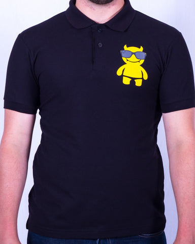 Sur Club 1976 - Yellow Mega Demon - Men's Logo Polo