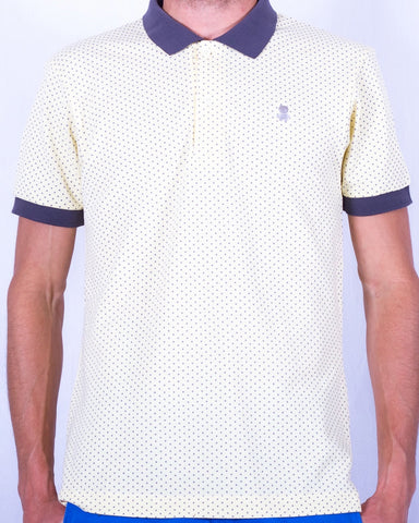 Yellow and Gray Polka Dot polo