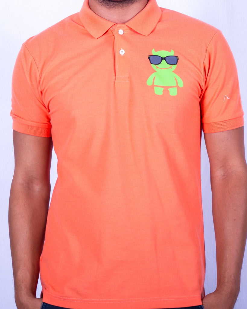 Green Mega Demon Logo Polo