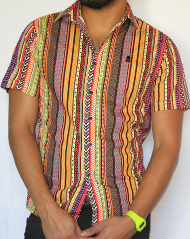 Multicolor Tribal Vintage Inspired Shirt