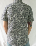 All Over Number Print Shirt - Black on White