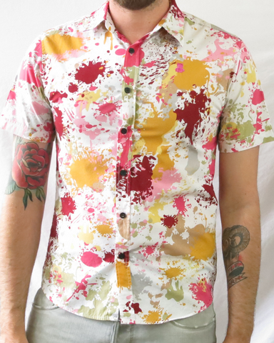Paint Splatter Print Shirt