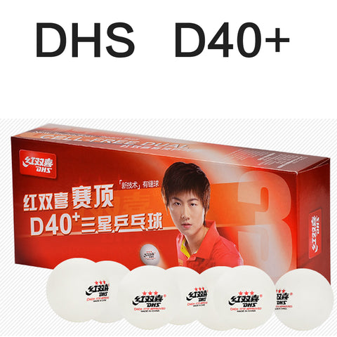DHS D40+ *** table tennis balls - orange / white
