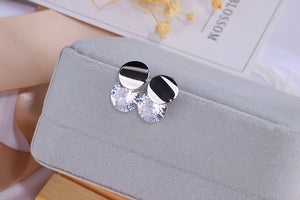 Classic Crystal Round Stud Earrings