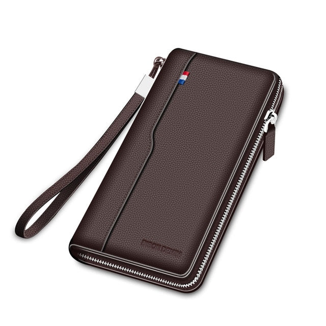 Genuine leather Wallet with Zipper Coin Pocket
