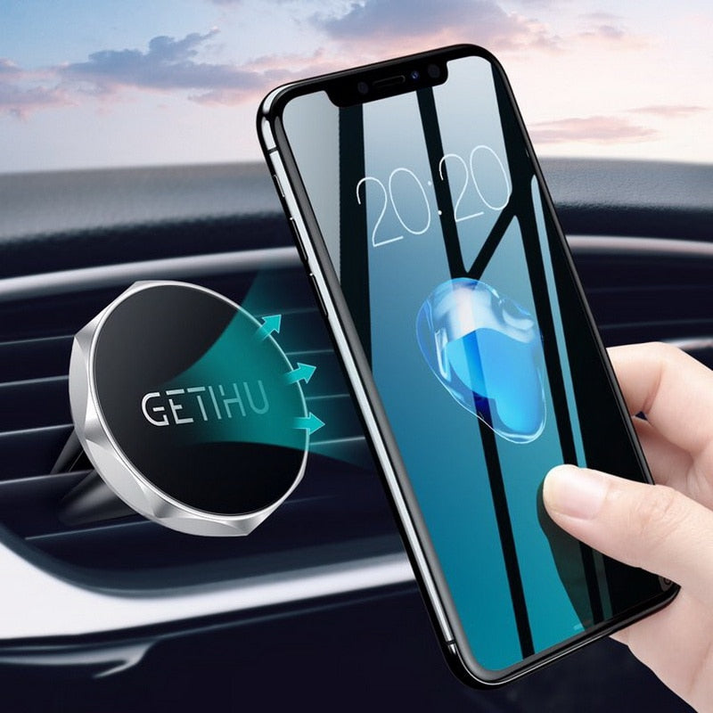 Magnetic Air Vent Mount Smartphone Stand For iPhone XS Max Samsung