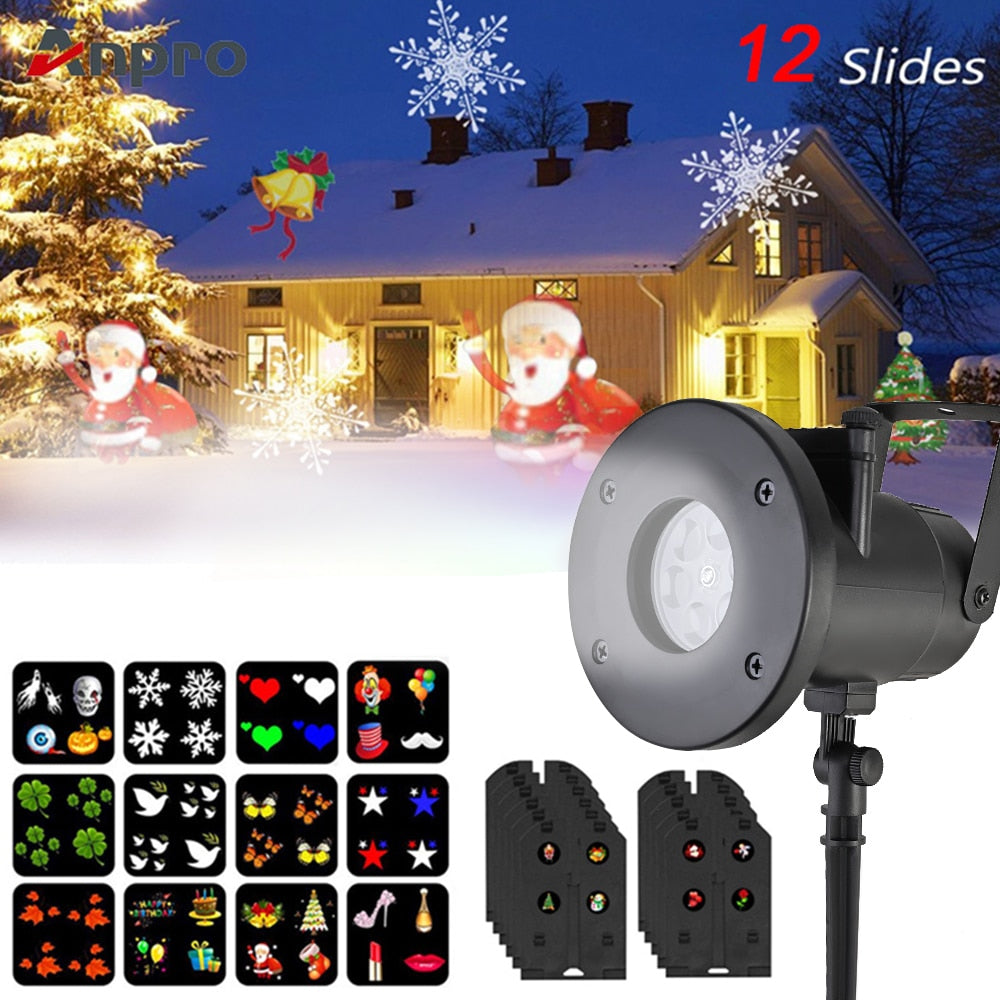 Outdoor Waterproof LED Snowflake Projector