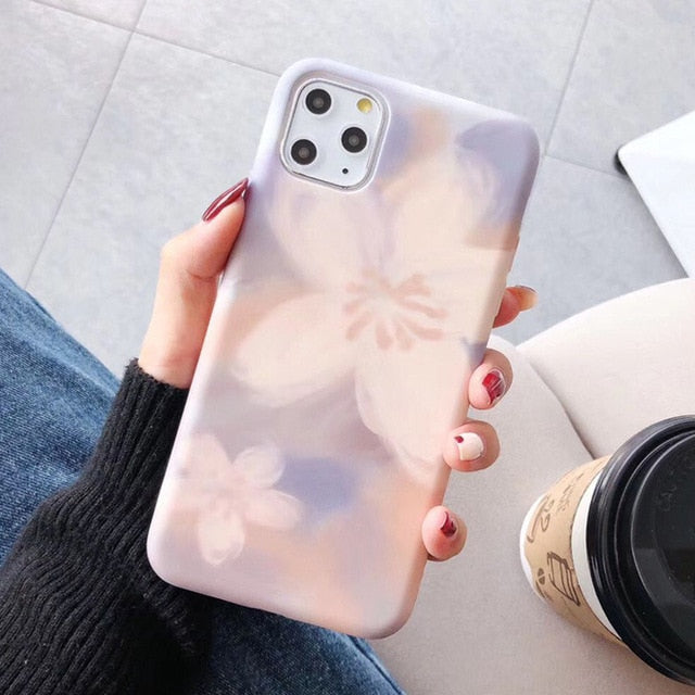 Floral Leaf Phone Case For iPhone 8 Plus 6 6S 7 X XS Max XR Case For iPhone 11 11Pro Max