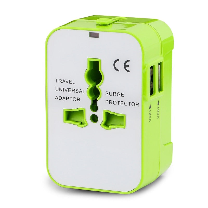 Universal USB Travel Adapter Wall Charger For USA EU UK