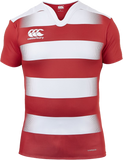 Vapodri Hooped Challenge Jersey - Flag Red/White