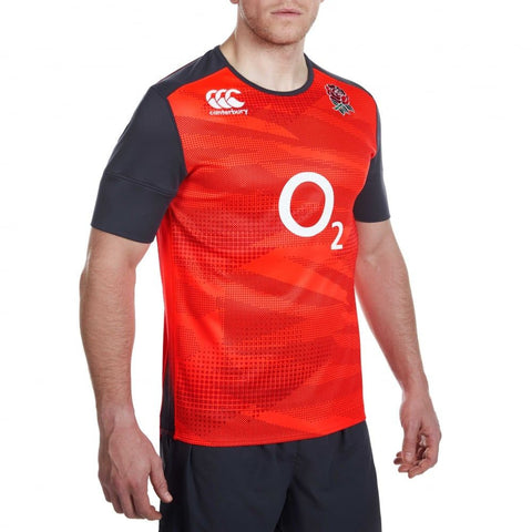 England Training Pro Jersey-Adults - Red Spark