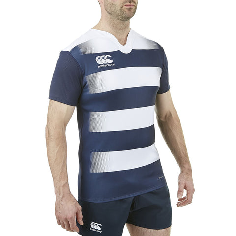 Vapodri Hooped Challenge Jersey - Navy/White