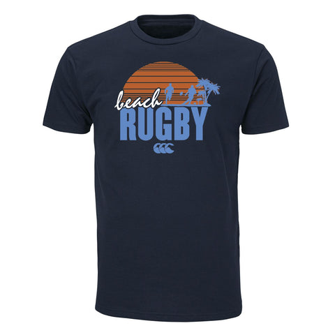 Beach Rugby Graphic Tee - Navy