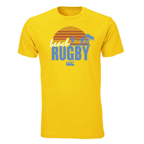 Beach Rugby Graphic Tee - Yellow