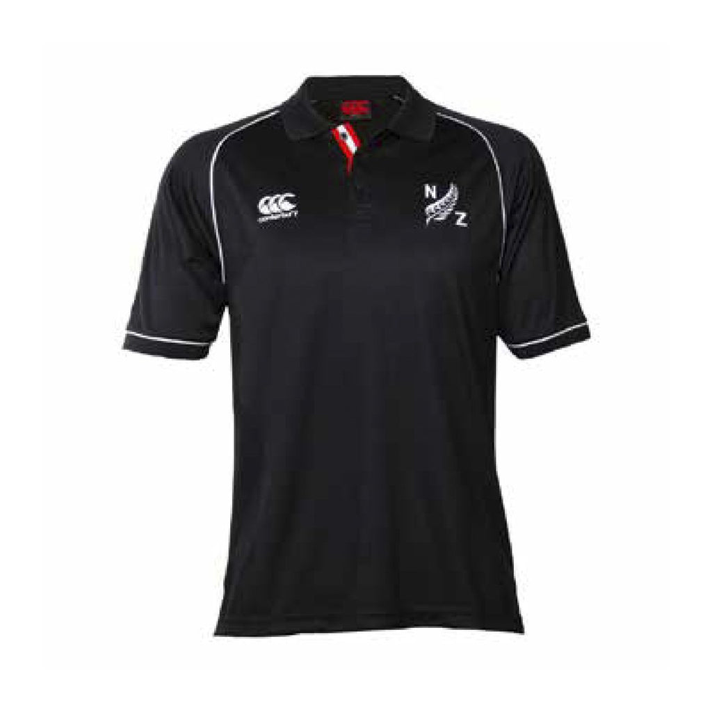 CCC Piped Fern Polo - Black