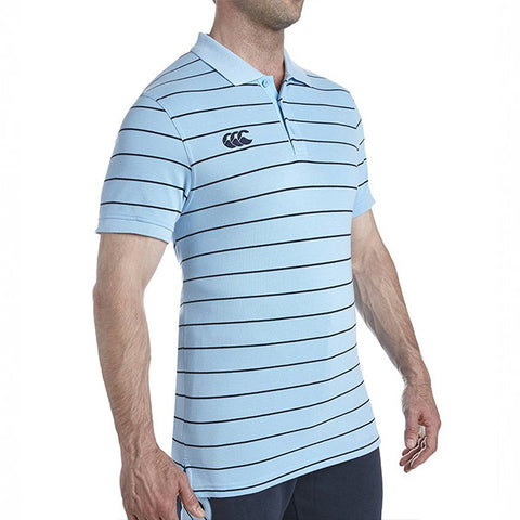 Striped Polo - Norse Blue/Navy