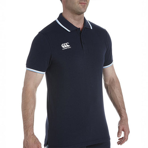 Tipped Polo - Navy/Norse Blue/White