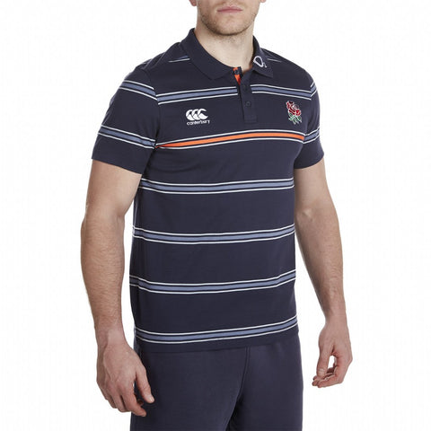 England Cotton Jersey Stripe Polo