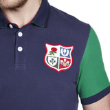 BIL Blocked Pique Polo - Faded Navy