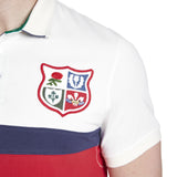 BIL Panelled Pique Polo - Vintage White