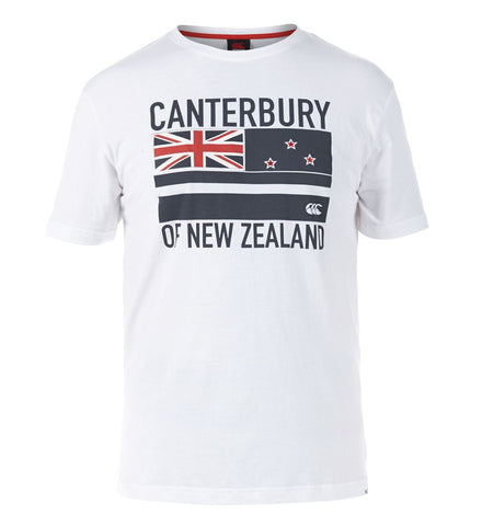 Flag Tee - White/Carbon/Chinese Red