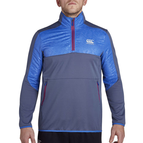 Thermoreg Spacer Fleece QTR Zip Run Top - Sky Captain